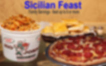 Family Size Servings. Feed up to 6 People or more. Zio Johno's. Pizza, Pasta Sub Sandwiches. Italian Restaurant. Marion, Cedar Rapids, North Liberty, Iowa City, Iowa, IA, Delivery, Carry-Out, Sicilian Feast, Family Feast, Party Planner, Italian Cuisine