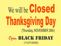 Zio Johno's Closed Thanksgiving Day