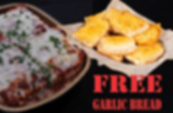 """FREE 16"""" Garlic Bread with Family Sized Lasagna. Zio Johno's. Traditional Italian baked meat lasagna. Simply the best! Experience delicious Italian Cuisine for the whole family! Zio Johno's. Cedar Rapids, Iowa City, North Liberty, Marion"""