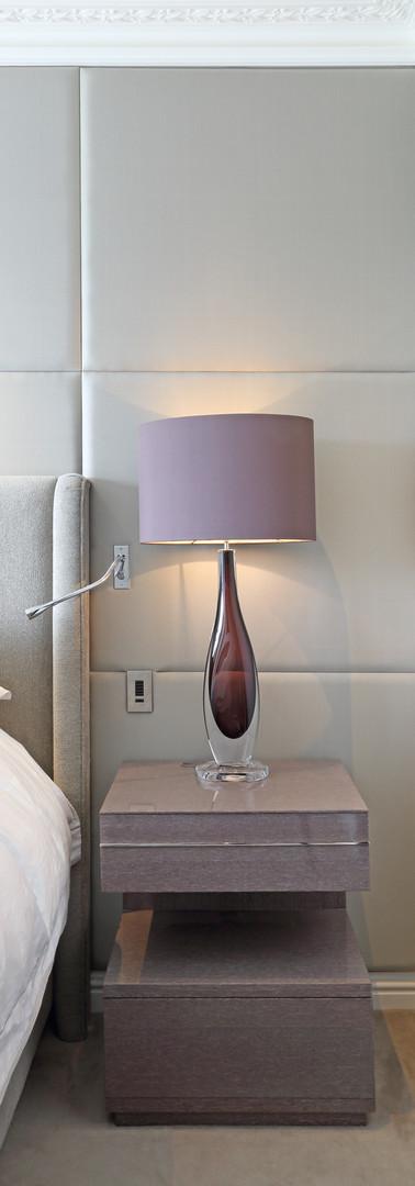 Hi Gloss Lati Veneer Bedside Table