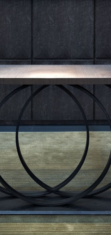 Hoop Console Table