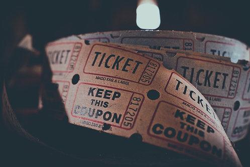 Ticket für eine Show