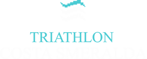 Logo Triathlon Costa Smeralda sfondo bia