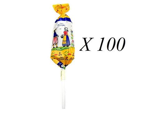 100 Sucettes caramel Beurre salé décor Bretagne