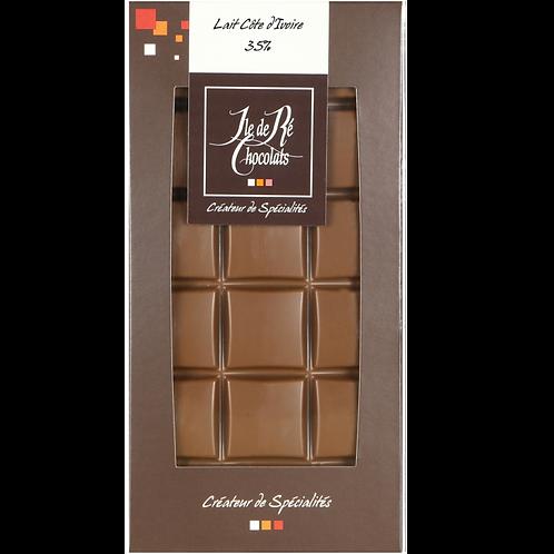 Tablette chocolat LAIT Côte d'Ivoire - 100g