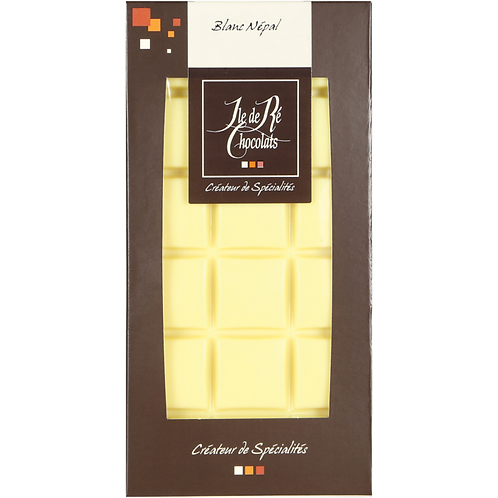 Tablette chocolat Blanc Népal - 100g