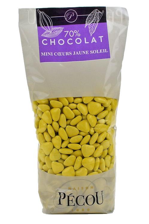 Mini Cœur Chocolat Jaune 250g