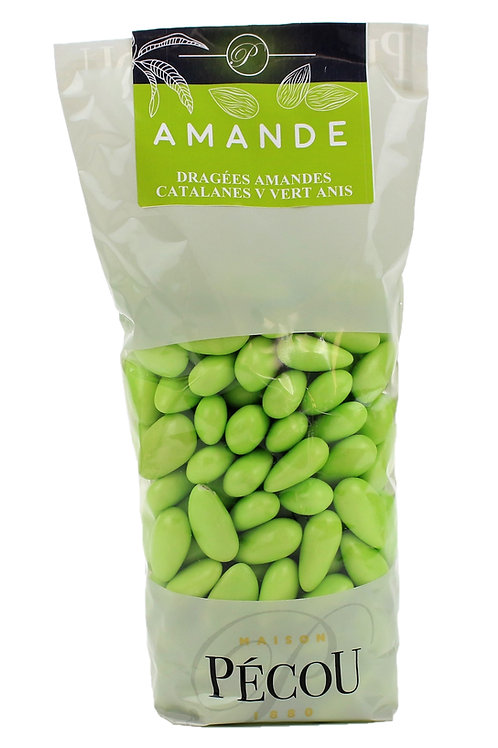 Dragées Amande  Catalane Vert Anis 250g