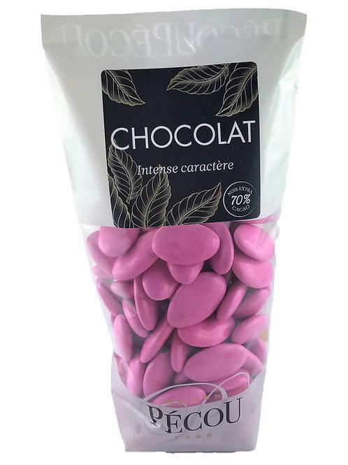Dragées Chocolat Fuchsia 250g