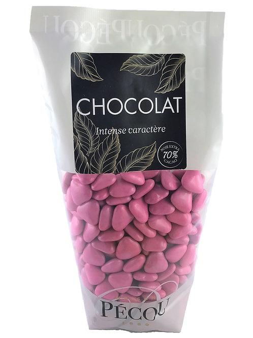 Mini Cœur Chocolat Fuchsia 250g