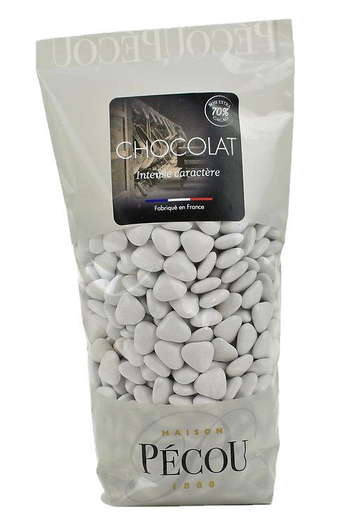 Mini Cœur Chocolat blancs Vernis 250g