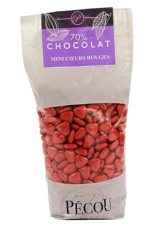 Mini Cœur Chocolat Rouge 250g