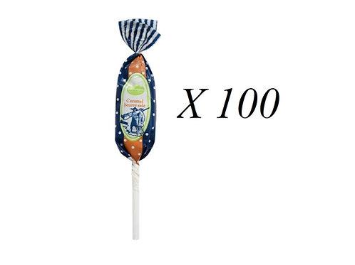 100 Sucettes Caramel beurre salé