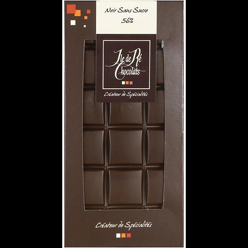 Tablette chocolat NOIR  sans sucre 100g