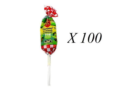 100 Sucettes caramel décor Normandie