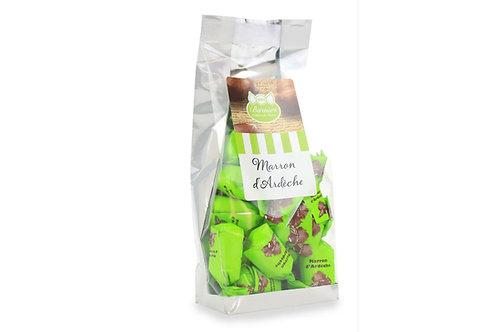 Sachet de Bonbons Fourrés à la pulpe de Marrons d'Ardèche 100g