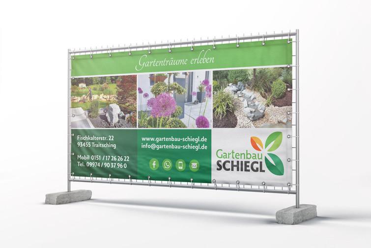 Baustellenbanner Schiegl Gartenbau