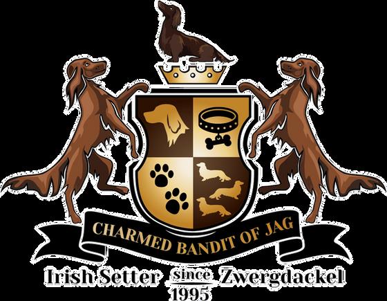 Logo, Charmed Bandits of JAG, Setterzucht, Zwergdackelzucht, Kettershausen, Deutschland