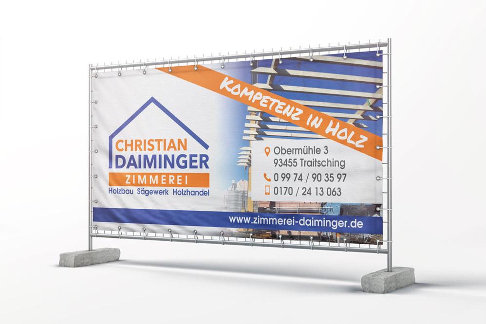 Bauzaunbanner Zimmerei Daiminger
