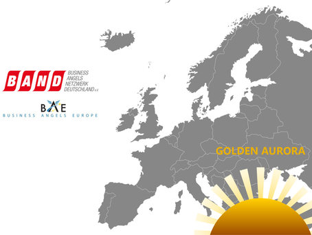 """The Golden Aurora 2019 for """"Europe's Female Angel Investor of the year"""""""