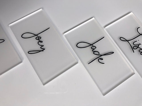 Acrylic Place card