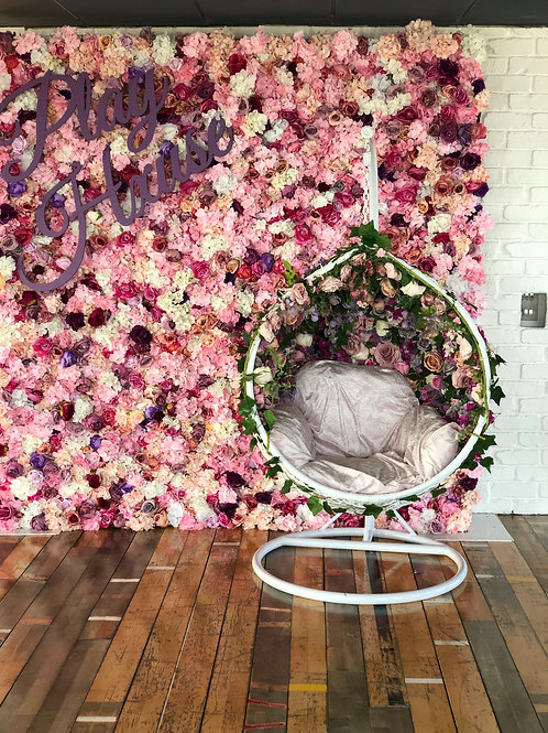 Hire of our Flower swing chair