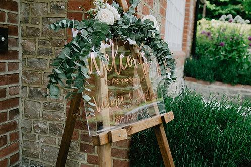 Wedding Sign Clear Acrylic