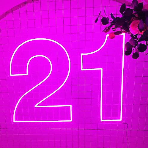 Hire of 21 neon light