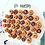 Thumbnail: Hire of White Acrylic Donut Wall and Clear Easel