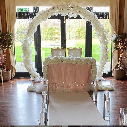 Silk Blossom Arch