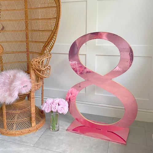 3Ft Mirror Freestanding Numbers