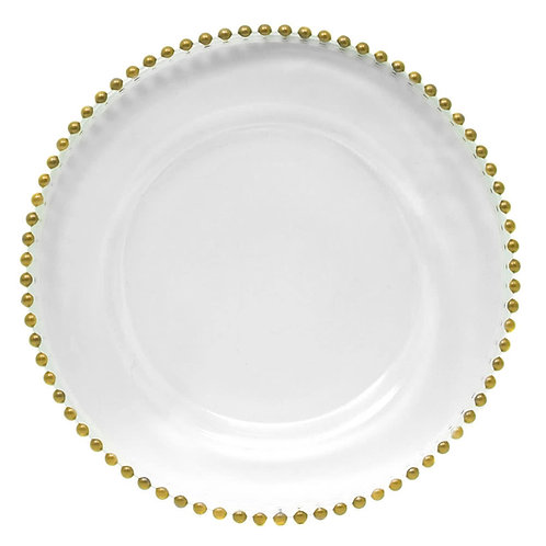Hire of Gold Beaded Charger Plate