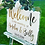 Thumbnail: Wedding Sign clear Acrylic with coloured back