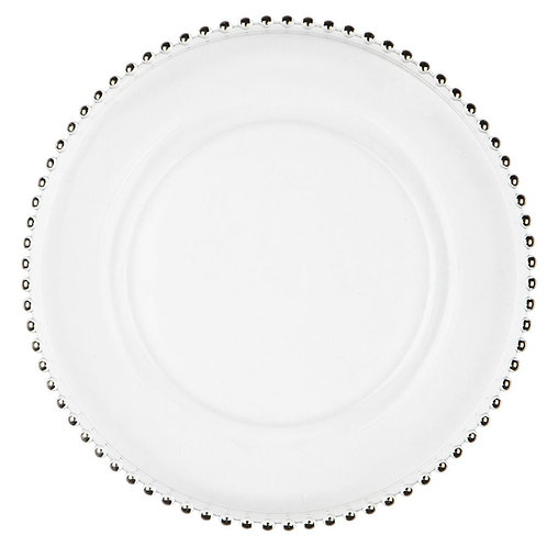 Hire of Silver Beaded Charger Plate
