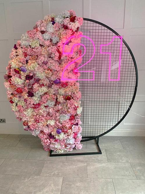 Semi Circle Flower Wall Panel