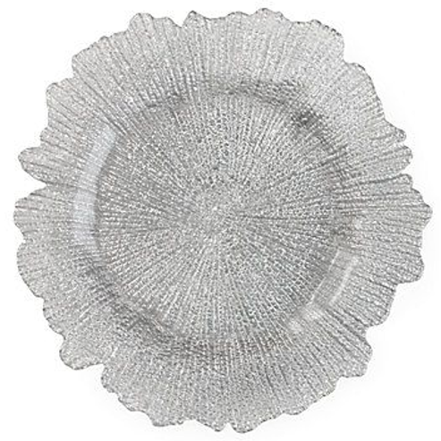 Hire of Silver Leaf Charger Plate