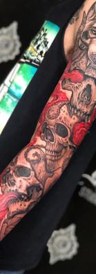 See Hear Speak no evil Sleeve Tattoo