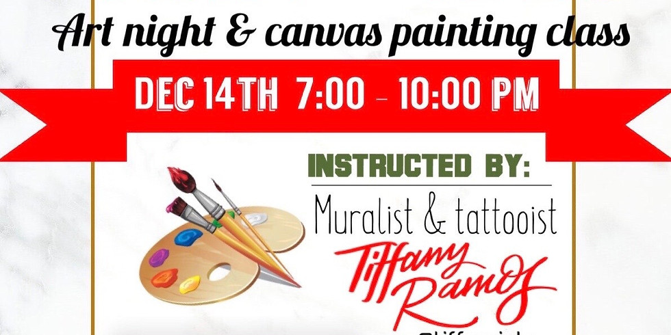 UGLY SWEATER PAINT VIBES art night & canvas painting class