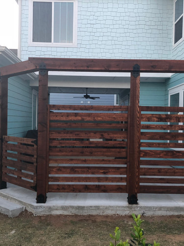 Custom Cedar Privacy Pergola