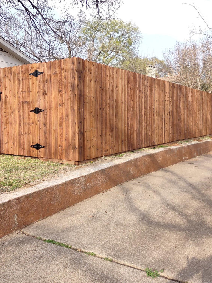 6 foot cedar side by side (smooth side of fence)