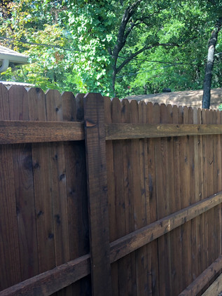 Dark Brown, 6 Ft Side by Side Cedar Fence with Rot Board & Postmasters
