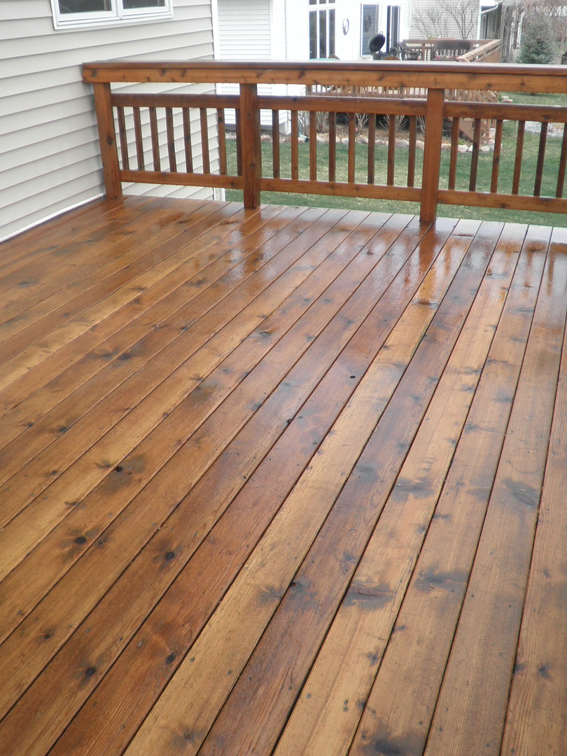 Light Brown Cedar Deck