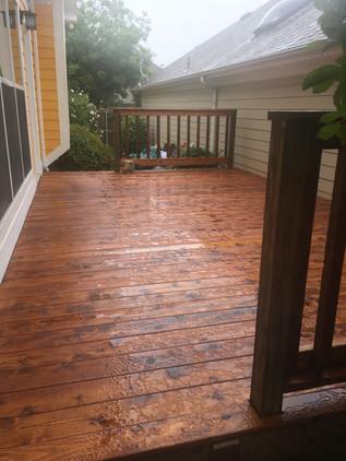 Medium Brown Cedar Deck