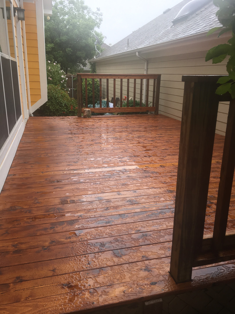 Medium Brown Cedar Deck