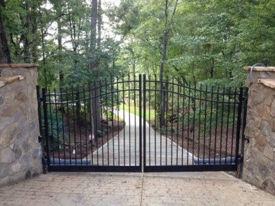 Custom Ornamental Swing Drive Gates with Operator