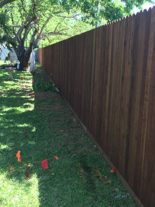Dark Brown, 6 Ft Side by Side Cedar Fence with Rot Board
