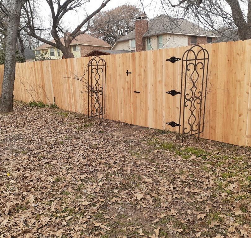 6 foot cedar side by side unstained