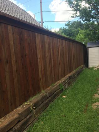 Dark Brown, 6 Ft Side by Side Cedar Fence with Topcap & Trim