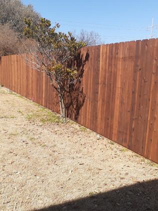 6 foot cedar side by side
