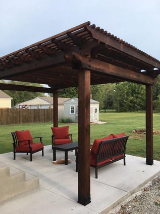 Dark Brown Cedar Pergola
